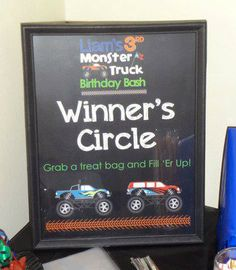 Monster truck party theme