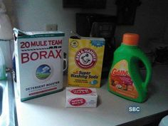 5 GAL OF LIQUID LAUNDRY SOAP  this is so easy to make............you need a 5 gal bucket with a lid you put 4 cups of water in a pan shred the zote add a little at a time to the boiling water and melt it down , fill up the 5gal bucket with hot water 3/4 full add 1 cup of the borax and 1 cup of the super washing soda and still then pour in your zote you have melted put the lid on it let set for 24 hrs then add 75 oz of whatever kind of laundry soap you want. I use gain alot and I also use the…