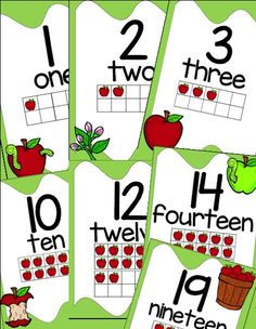 Apple Number Posters 1-20....Let's Learn S'more!