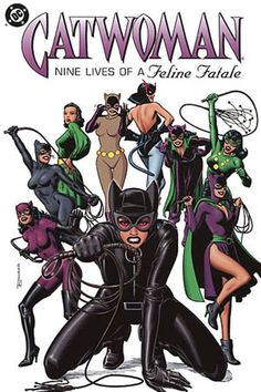 Catwoman Comic Book Cover to catwoman: nine lives (CatWoman has been my hero since the all Grey suit with the gold belt. Good times.)
