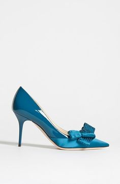 Satin and patent on a Jimmy Choo Bow Pump
