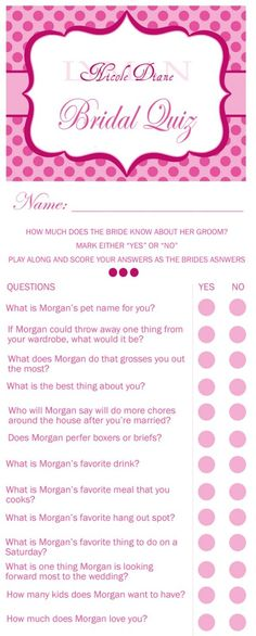 Bridal Shower Checklist  Bridal Shower Checklist Bridal Showers