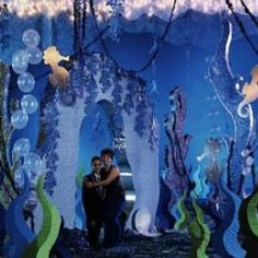 Unique Prom Theme Ideas/ create an archway; cut out coral/seaweed/ cut out sea horses