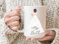 Personalised Name Mugs, Personalized Graduation Gifts, Graduation Gifts For Her, Bridesmaid Mug, Bridesmaid Proposal, Wedding Gifts For Bride, Bride Gifts, Best Friend Mug, Bridal Shower Gifts
