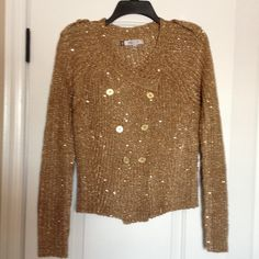Sweater Jennifer Lopez cardigan.  Add some glam to your wardrobe .  Gold with sequence. Jennifer Lopez Sweaters Cardigans