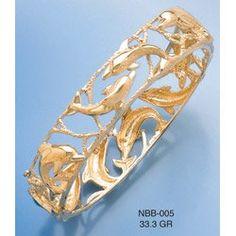 Amazon.com: Bangels 14K Gold Dolphin Bangle: Million Charms: Jewelry