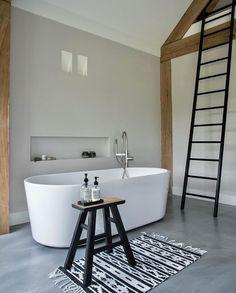 We just can't get enough of this beautiful bathroom by 👈🏻 Good night all ✨ . Relaxing Bathroom, Bathroom Spa, Modern Bathroom, Bathroom Ideas, Nordic Home, Nordic Interior, Good Night All, Scandinavian Bathroom, Cozy Room