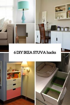 Several nice IKEA STUVA hacks. It can be used not only in kids rooms!