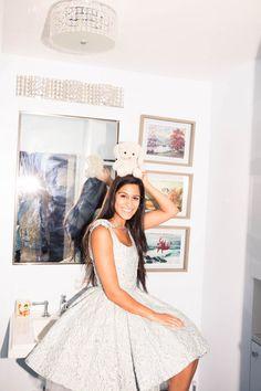 Inside Deputy Fashion Editor Anahita Moussavian's Closet: White Lace Dress by Oscar de la Renta, Vans Sneakers | coveteur.com