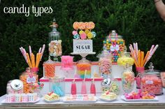 candy buffet ideas | Here are some Candy Buffet Ideas.