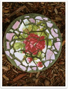 The Grout Look: Or How Broken China Mosaics Nearly Broke ME ~ The Thrift Shop Romantic