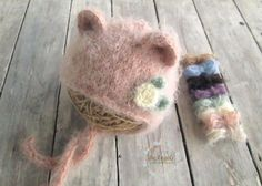 Fluffy hat and tieback by beAngelsProps on Etsy