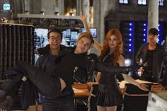 Pin for Later: Shadowhunters: You're About to Be Completely Obsessed With These Behind-the-Scenes Photos  Fingers crossed we see more of Sherwood and Rosende's behind-the-scenes bromance on the actual show.