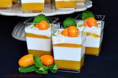 Panna cotta cu jeleu de fructe tropicale - CAIETUL CU RETETE Panna Cotta, Pudding, Ethnic Recipes, Desserts, Food, Tropical, Tailgate Desserts, Dulce De Leche, Deserts