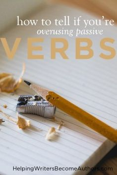 Although passive verbs have their place, it's good for writers to remind themselves of how much more power they can find in active constructions. Writing Advice, Writing Resources, Writing Help, Writing Skills, Writing A Book, Writing Prompts, Outlining A Novel, A Writer's Life, Writing Inspiration