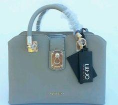 handbags borsa bauletto LIU JO eco pelle saffiano wet sand d721f7302a9
