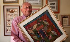 """""""After six months held by the Nazis in a prisoner of war camp, Major Alexis Casdagli was handed a piece of canvas by a fellow inmate. Pinching red and blue thread from a disintegrating pullover belonging to an elderly Cretan general, Casdagli passed the long hours in captivity by painstakingly creating a sampler in cross-stitch. Around decorative swastikas and a banal inscription saying he completed his work in December 1941, the British officer stitched a border of irregular dots and…"""