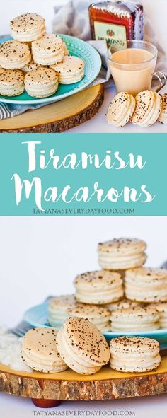 "I'm a huge fan of the classic Italian dessert ""Tiramisu""! I love the combination of flavors and the way it melts in my mouth! For this macaron recipe, I wanted to capture all of those flavors in a cookie! These Tiramisu macarons taste just like a b Mini Desserts, Brownie Desserts, Classic Desserts, Italian Desserts, Just Desserts, Italian Tiramisu, Dessert Oreo, Coconut Dessert, Macaron Cookies"