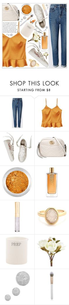 """""""style"""" by lena-volodivchyk ❤ liked on Polyvore featuring MANGO, Gucci, SkinCare, Guerlain, Dolce&Gabbana, Evie & Emma, Pier 1 Imports, Topshop and Libbey"""