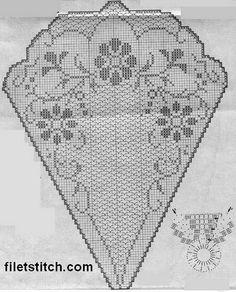 Kira scheme crochet: Scheme crochet no. Crochet Doily Diagram, Filet Crochet Charts, Crochet Doily Patterns, Thread Crochet, Crochet Motif, Crochet Designs, Crochet Doilies, Crochet Stitches, Crochet Round