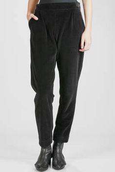 Issey Miyake | soft stretch cotton velvet polyester and polyurethane trousers | #isseymiyake