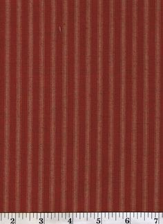 Dunroven House Primitive Style Homespun Dark Red Striped Fabric 1 2 yd Cut   eBay