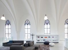 This new and unusual home has been designed by Zecc Architects architecture firm and is actually a redesigned old church that has been registered as a municipal monument.