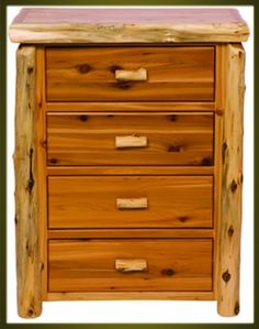 Brand New Rustic Furniture Traditional 4 Drawer Dresser