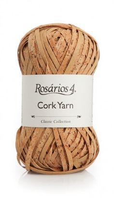 Cork Yarn: 56% cork + 22% cotton + 22% polyester