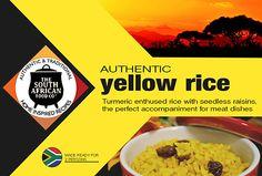 South African Food: Authentic turmeric infused yellow rice South African Design, Yellow Rice, South African Recipes, Volunteer Abroad, Volunteers, Turmeric, Foodies, Nostalgia, Rocks