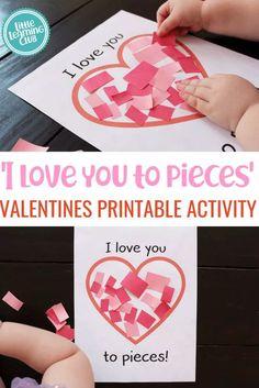 Toddler Valentine Crafts, Kinder Valentines, Valentine Theme, Valentines Day Activities, Valentines For Kids, Holiday Activities, Toddler Activities, Valentines Crafts For Preschoolers, Montessori Toddler