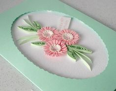 60th birthday card with quilling flowers can be for any age