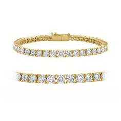 1.30cttw Natural White Round Diamond (VS2-SI1-Clarity,G-H-Color) Tennis Bracelet in 14k Yellow Gold., (great deal, diamond tennis bracelets, 2 ct diamond bracelet)