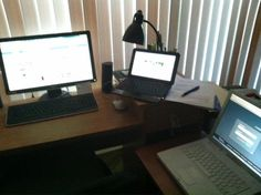Ashford student David Torres' study space is filled with technology. That's the type of study spot we fully support!