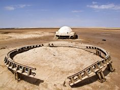Remnants of Abandoned Star Wars Sets in Morocco and Tunisia Reminiscent of Ancient Ruins