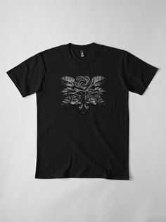 Black roses for the dramatic dark romantic goth gardener of darkness. A classic elegant fashion style, with magical luxury vintage noir flavor of black and white glamorous lifestyle. Romantic Goth, Rose T Shirt, Black Roses, Jewelry Shop, Tshirt Colors, Chiffon Tops, Darkness, Shirt Designs, Glamour