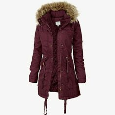 Buy Bordeaux Fat Face Greenwich Parka from our Women's Coats & Jackets range at John Lewis & Partners. Fall Winter Outfits, Winter Wear, Autumn Winter Fashion, Coats For Women, Jackets For Women, Parka Outfit, Winter Wardrobe, Sweater Jacket, Sweater Weather