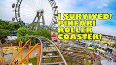 Robb Survives Pinfari Roller Coaster! Wiener Prater Austria - Front Seat...