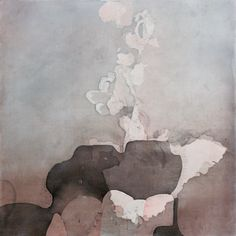Eric Blum |  Unraveler  |  2012  | ink, silk, and beeswax on panel