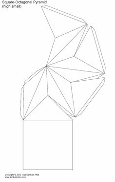 Net square-octagonal pyramid