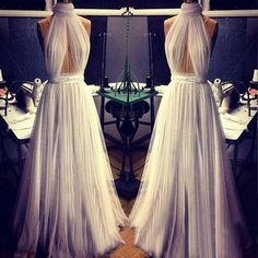 High+Neck+Floor-length+Chiffon+Prom+Dresses+Elegant+Evening+Dresses+#SP8422