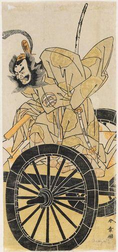 """Actor Nakajima Mihoemon II as Fujiwara Shihei"" by #KATSUKAWA_Shunsho (1726-1792), #Japan 勝川春章 #japanese_art"