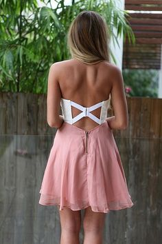 geometric cut out back.....cute idea for bridesmaids?