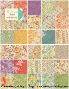Layer Cake -  MiMi  -  MODA quilting fabric squares / blocks by Chez Moi on Etsy, $29.00