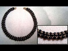 Beading4perfectionists : Superduo & miyuki seedbead classy necklace beading tutorial