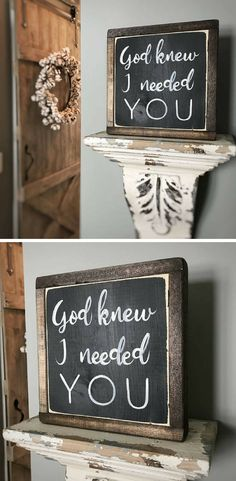 God knew I needed you | Wood Signs | Farmhouse Decor | Wedding Gift | Love sign | Rustic Sign | Farmhouse Style | Bedroom Sign | Anniversary #faithsign #homedecor #farmhousedecor #anniversary #ad