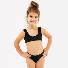 a3e0339cedc8 Shop the Isla Signature Girls Bikini Swimsuit for toddlers and kids in  Black by CURRENT.