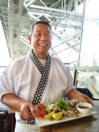 At his sushi bar below the Sandbar Seafood Restaurant on Granville Island, Tsutomu Hoshi focuses on raw fish, but at home he makes this soft-shell crab tempura part of a meal.