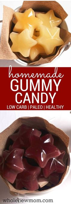 Homemade Gummy Candy - Paleo, low carb and kid friendly!