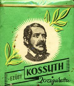 Kossuth Ezust 20 Cigaretta Sold in Hungary Made in Hungary in year Producer: Egri Dohбnygyбr Trade Mark Owner: Egri Dohбnygyбr Size height/width/depth (mm): Open type: v Condition: Full DOUBLES AVALIABLE: NO Folk Music, Rice Paper, Illustrations And Posters, Hungary, Old World, Baddies, Decoration, Objects, Trade Mark